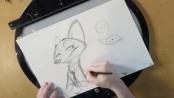 《疯狂动物城》病毒视频 导演拜恩教学画狐狸尼克