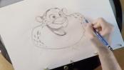 《疯狂动物城》病毒视频 动画师教学画警官胖花豹