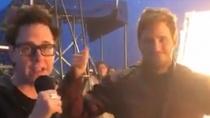 《银河护卫队2》杀青 克里斯·普拉特穿战衣庆祝收官