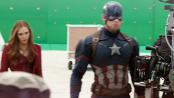 《美国队长3》中文花絮 猩红女巫对绿幕放大招