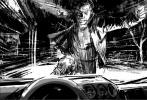 """目前已经进入后期制作阶段的《金刚狼3:罗根》于日前曝光了新的片场照和故事板。与之前所曝光的物料一样,新曝光的素材一样是高对比度的黑白照片。在故事版上,我们能看到金刚狼朝着一辆飞驰的汽车冲去,他一拳打碎了挡风玻璃,钢爪深深地插进到了车厢之中,似乎他是要杀死某一个人。而新曝光的剧照,则充满了末世气息。""""变种人都在哪里""""的刻字,触目惊心。"""