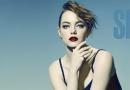 艾玛·斯通最新写真大片 烈焰红唇香肩撩人