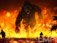 """《金刚:骷髅岛》新概念图 """"金刚""""咆哮穿越火海"""