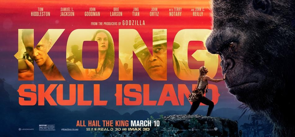 《金刚-骷髅岛》新海报 拉尔森手抚金刚致敬经典