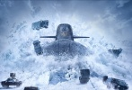 近日,范·迪塞尔携自己的新作《速度与激情8》国外杂志封面,其中也曝出了很多新的片场照和剧照。在主封面中,众多跑车在冰面上一展身手,和潜艇展开竞速较量,场面十分炫酷。