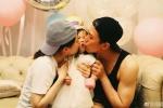 邓超孙俪庆祝小花生日 夫妻俩吻女儿脸亲到变形