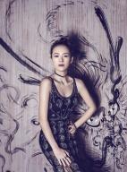 章子怡最新时尚大片曝光 红黑造型大玩中国古典风