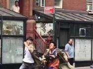 王宝强刘昊然《唐探2》纽约热拍 街头狂奔引围观