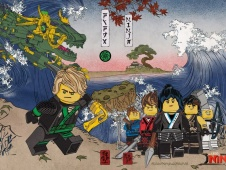 《乐高忍者》曝光横幅海报 浮世绘风格民族感强