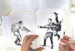 """好莱坞动作冒险巨制《王牌特工2:黄金圈》曝""""纸上特工""""创意视频,这支由国外博主serene(@saggyarmpit)制作的视频,将精彩的漫画折纸方式和动感热烈的配乐完美结合。在精心摆放的漫画纸背景上,通过人工快速翻页画有主角形象的漫画纸,酷炫还原电影中""""脸蛋组合""""并肩作战对抗变态女魔头的亮点剧情。视频中以出人意料的画面呈现方式和意想不到的元素转场,让众多影迷眼前一亮锁定视线,并纷纷表示""""太酷了!脸叔蛋蛋的形象神还原!墙都不扶,就服王牌特工的脑洞!"""""""