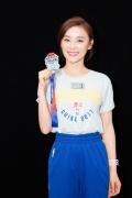 袁姗姗搭档金州勇士队 NBA现场投篮尽显青春活力