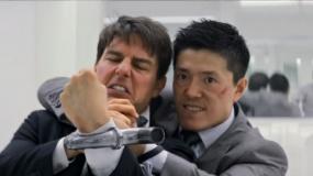 《碟中谍6:全面瓦解》曝光新片段 三壮汉厕所斗殴