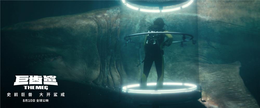 《巨齿鲨》上演鲨场对决 杰森斯坦森能否脱险?