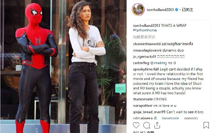 荷兰弟宣布《蜘蛛侠:远离家乡》杀青 片场照曝光