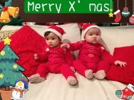 熊黛林双胞胎女儿难得同框合照 一个随妈一个随爸
