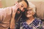 """""""海王""""杰森曬與奶奶溫馨合照 大笑似孩子一樣"""