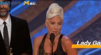 """""""shallow""""获奥斯卡最佳原创歌曲 Lady Gaga泪奔感言:永不言弃!"""