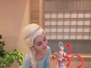 Angelababy庆生照cos冰雪女王 精致似芭比娃娃!
