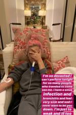 Lady Gaga患支气管炎取消表演 晒就医照承诺粉丝