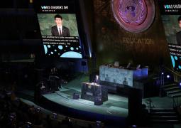 王源联合国活动中文发言 教育为孩子们提供明灯