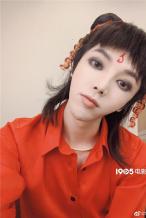 神还原!华晨宇COS哪吒 化同款眼妆表情搞怪