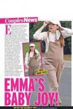 艾玛·斯通被爆怀孕!秘婚4个月穿背带裤孕肚明显