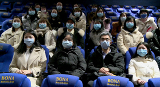 天津援鄂医疗队队员参与《杭州日夜》肖战公益观影专场