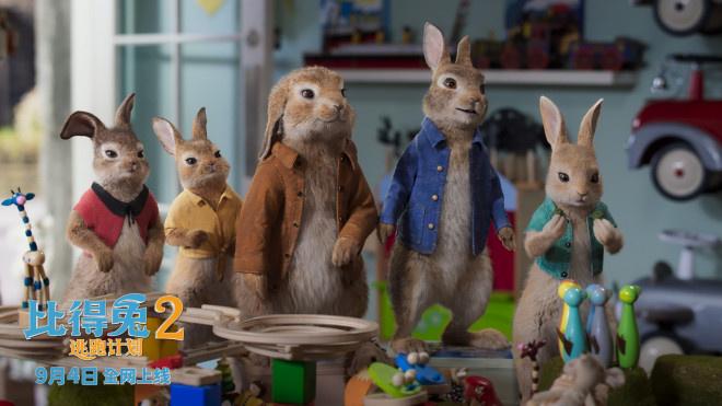 《比得兔2:逃跑计划》9月4日上线 萌兔天团集结