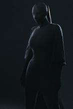 卡戴珊全黑蒙面造型幕后曝光 竟然画了全妆?