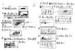 这是片中被删的划船片段的分镜头草图,这一段落至今仍无机会看到
