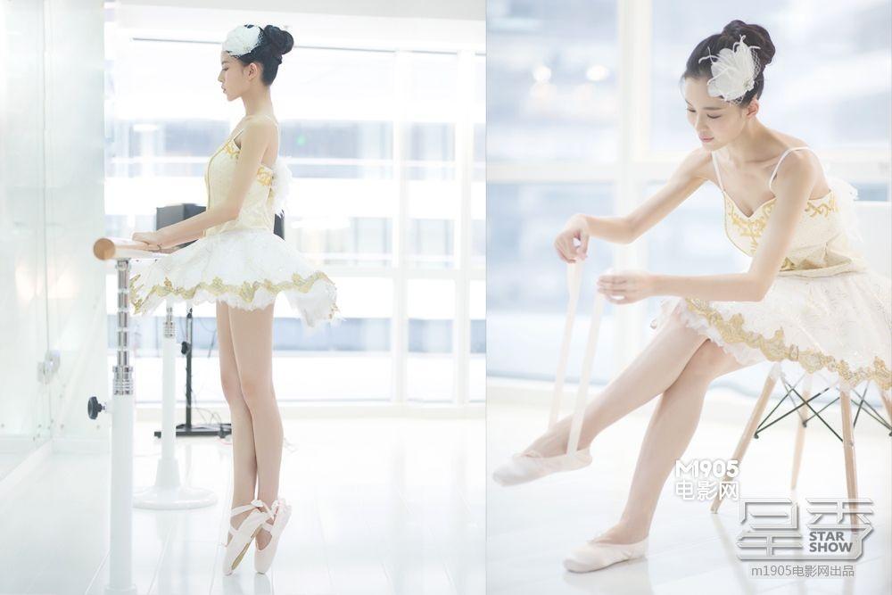 """我的完美校花_独家写真:""""双面""""温心 看芭蕾女神的完美进阶_独家策划_图集 ..."""
