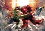 """《复仇者联盟2:奥创时代》无疑是今年最受关注的影片,而该片和众多玩具厂商的合作也在不断加深,各个合作厂商也已经代替漫威,成为了物料公布的来源。日前,著名的以制造真人大小的墙面贴纸厂商Fathead就公布了一组《复联2》的人物图片。从这组图片上我们能看到《复联2》中的所有人物都以各自的""""战袍""""出场,奥创和奥创军队的模样也出现在了墙纸之中。在这些图片中,最引人注目的则是绿巨人和反浩克搏斗的复古海报。而且,海报上还写上了""""怪兽大战机器""""的字样,令人对影片无比期待。"""
