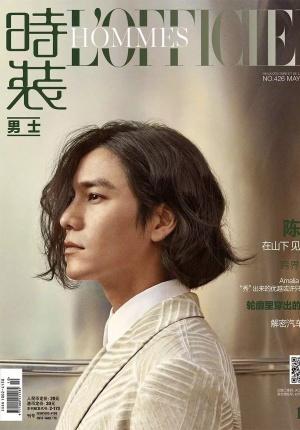 陈坤登《时装男士》五月号封面 卷发尽显雅痞气质