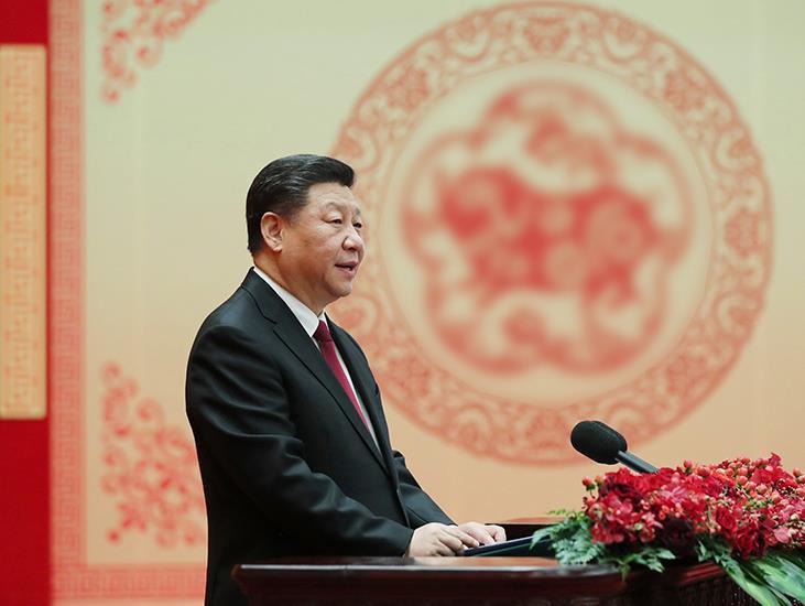 习近平:在2019年春节团拜会上的新春讲话