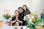 李少红与陈凯歌夫妇合影 陈飞宇吉他献唱老爸庆生