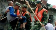 汶川暴雨灾情牵动全国 军民救灾团结一心奋不顾身