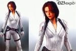 """?#38797;?#23521;妇""""来了!迪士尼展会曝《黑寡妇》新造型"""