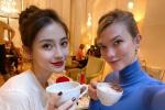 小KK再晒与Angelababy合影 同框共享下午茶时光