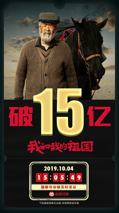 《我和我的祖国》成最快达成15亿纪录的国产影片