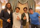 不可思议!成龙和海王、尚格·云顿、沙鲁克汗同框