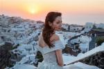 异域爱情神话!迪丽热巴希腊婚纱写真清新美艳