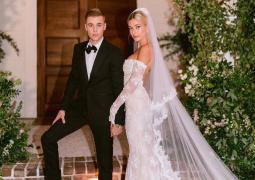 神仙夫妇配一脸!贾斯汀·比伯夫妇婚礼现场照释出