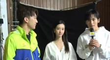 陳都靈、張哲瀚拍攝《星辰大海》MV采訪花絮