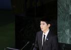 王源聯合國活動中文發言 教育為孩子們提供明燈