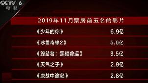 十一月总票房收获34.7亿 《少年的你》以6.9亿成绩拔得头筹