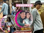 走出婚变阴霾 洪欣素颜与老公张丹峰挽手甜蜜逛街