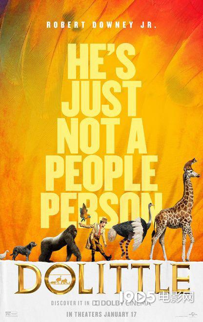 小罗伯特·唐尼新片 《多力特的奇幻冒险》发海报