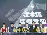 《金字塔之连锁反应》启动 王景春黄晓明送祝福