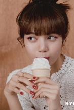 人间甜豆!Lisa登封中国杂志 钻石眼妆眉眼如画