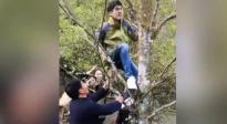 《星光》大电影蔡徐坤、郑恺干活忙,刘昊然实力爬树上热搜!